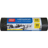 Мешки для мусора OfficeClean на 60 л, 20 шт. в рулоне