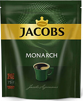 Кофе растворимый Jacobs Monarch, 75 гр, вакуумная упаковка
